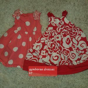 2 GYMBOREE DRESSES TODDLER GIRL 2T EXCELLENT COND,